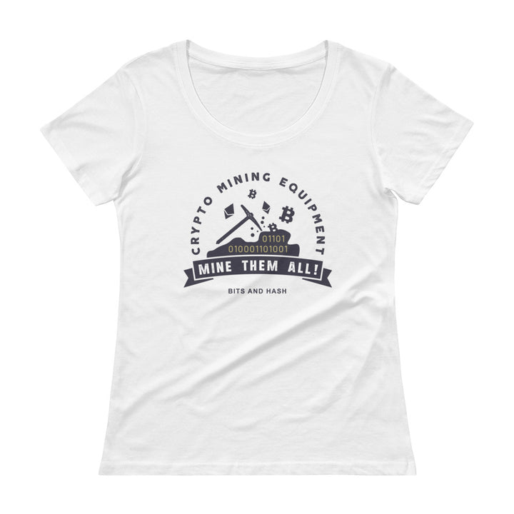 Crypto Mining Equipment Women T-Shirt white