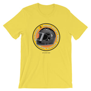 Bitcoin maximalist t-shirt yellow