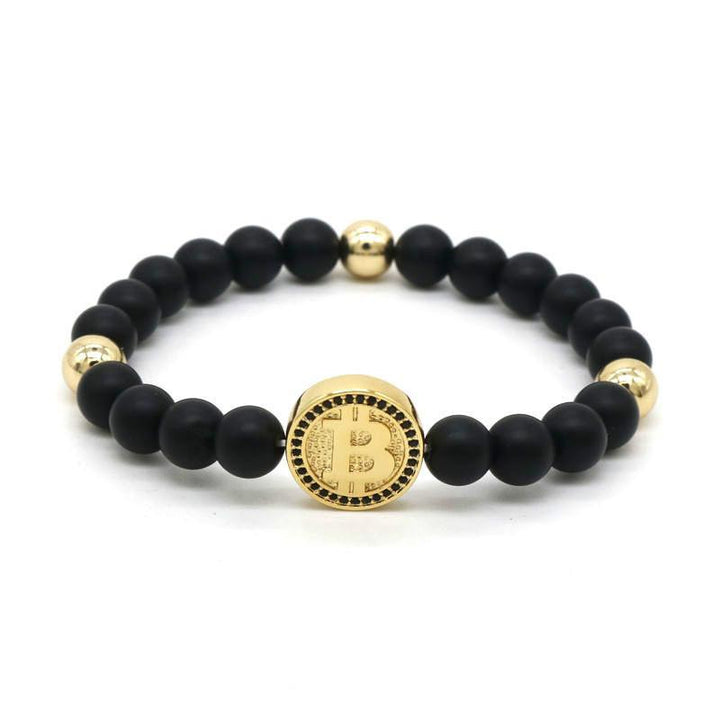 Bitcoin bracelet in gold for men and women