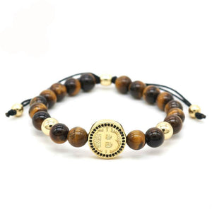 Tiger Eye Stone Bitcoin Bracelet