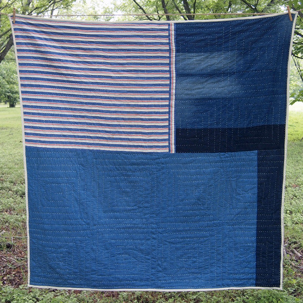 Leaning Cabin Quilt