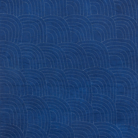 """Wave"" Indigo Wholecloth"