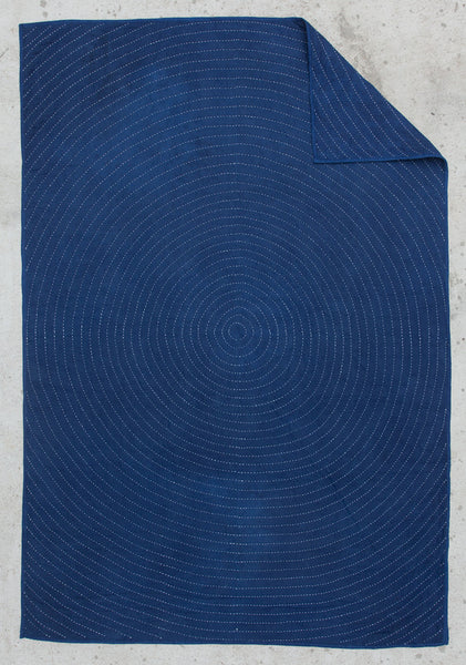 """Ring"" Indigo Wholecloth"