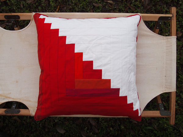 Log Cabin Sawtooth Pillow