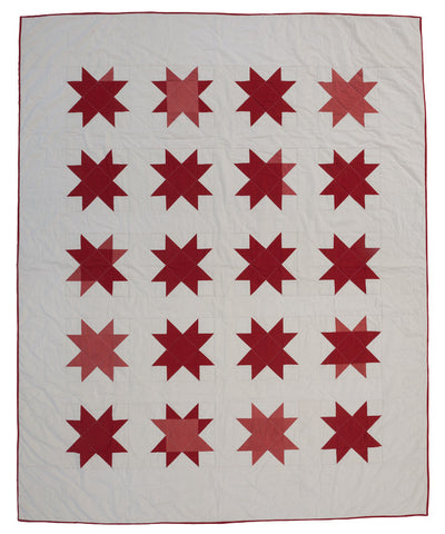 Red Sawtooth Star Quilt