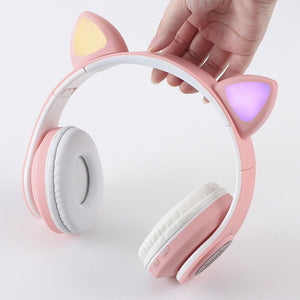 Audífonos B39 Cat Ears Inalámbricos Con Luz Led