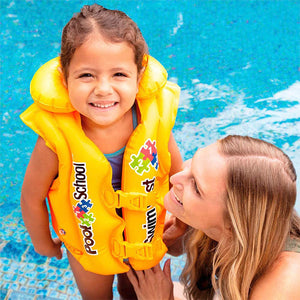 Chaleco Salvavidas Inflable Amarillo Pool School Intex / 58660EU