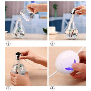 Humidificador Purificador USB Ampolleta LED 400ml / 53618 Cupoclick - Tienda Online