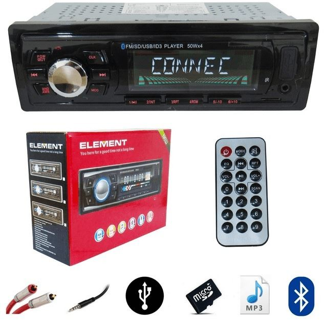 Radio Bluetooth Para Auto Mp3 Usb Sd Aux Fm
