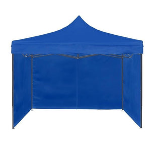 Toldo Plegable Azul 3x3 + Pared Laterales CupoclickCL