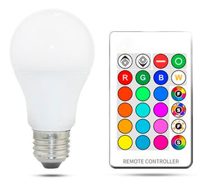 Ampolleta Led 7w Rgb 16 Colores E27 Control Remoto / 1618130