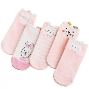 Pack 5 Calcetines Rosados Animalitos 34 - 39 / 1035-4
