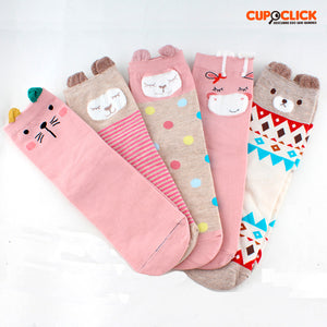 Pack 5 Calcetines Animalitos Rosados Pastel 34 - 39 / 976