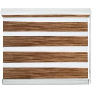 Cortinas Roller Duo Color Madera 240 cm Alto Viewtex