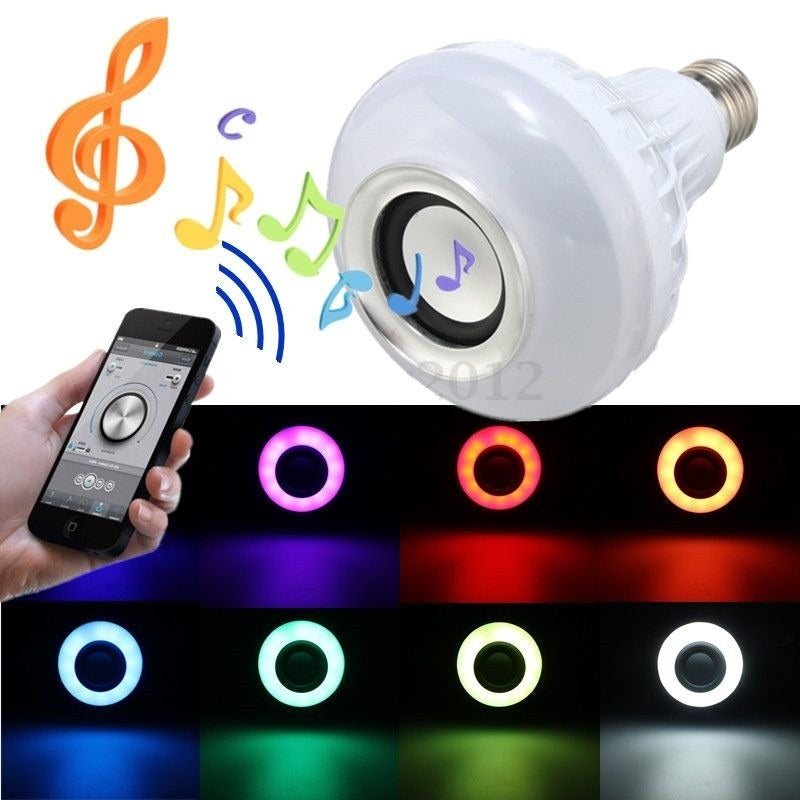 Ampolleta Led Parlante Bluetooth Multicolor con Control