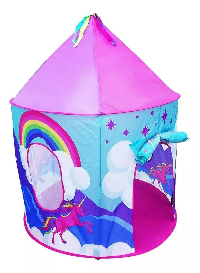 Carpa Plegable Castillo Infantil Arcoiris Unicornio / 42725