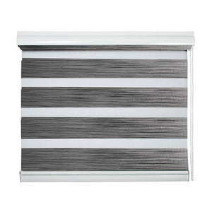 Cortinas Roller Duo Sun Out Color Gris 240 cm Alto Viewtex