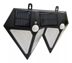 Foco 72 Led Luz Solar Doble Diamante Sensor Movimiento Impermeable / 71100 Cupoclick