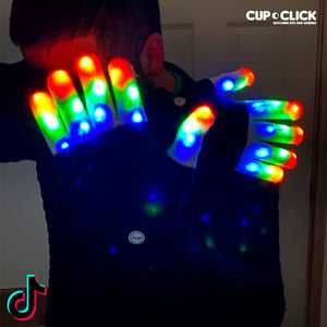 Guantes Led Tik Tok Con 6 Secuencias De Luces