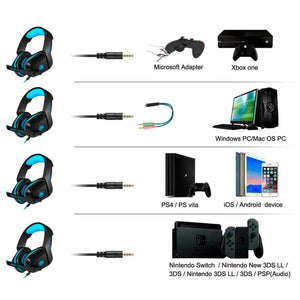 Audífono Gamer Ps4 Wii Xbox Play Station Phoinikas H1