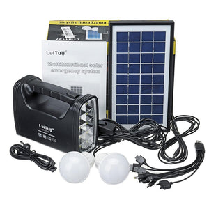 Kit Solar Emergencia Camping 220v Ampolletas 36 Hrs / 80501