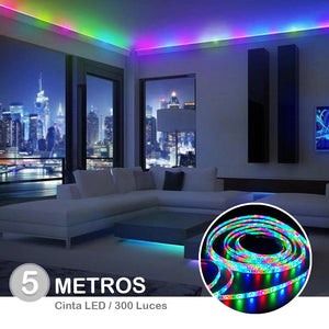 Cinta Luces Tira 300 Led 5 Metros Rgb Multicolor + Control/ 79550