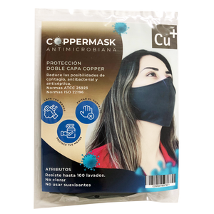 Mascarilla Coppermask Lavable Con Microparticulas de Cobre Antifluidos
