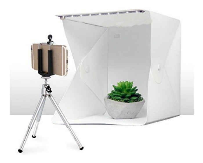Mini Estudio Fotográfico Con Luz Led Plegable 22cms