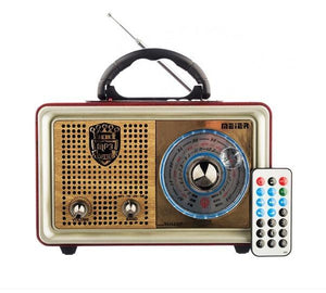 Radio Retro Portatil Bluetooth/FM/AUX/SD/USB /4431 Cupoclick
