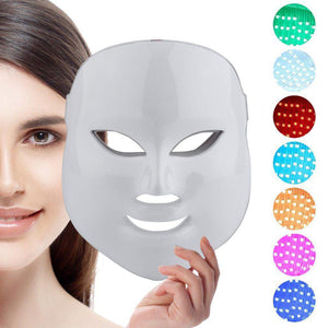 Máscara Facial Led Para Fototerapia 7 Colores Cupoclick