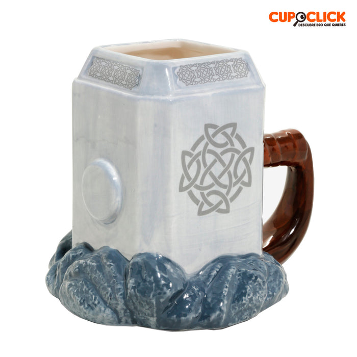 Taza Martillo De Thor Superheroes Marvel