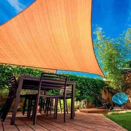 Toldo Vela Triangular De 5 X 5 X 6 Mts Color Beige / 48110