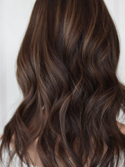 "22"" Darkest Brown Wavy Wig"