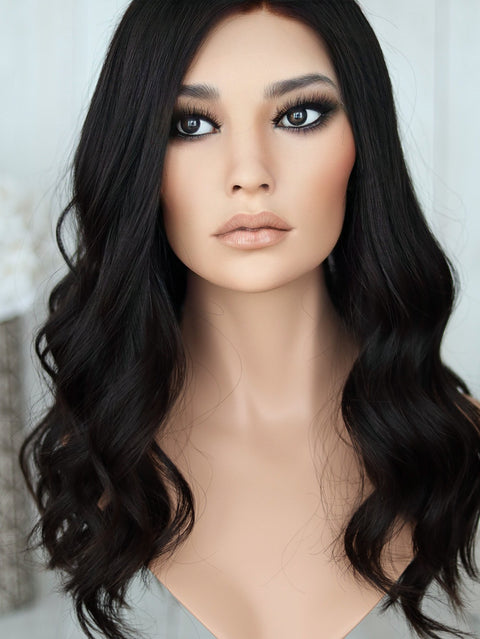 "23"" Darkest Brown Lace Top Wig"