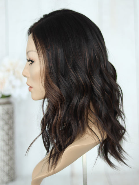 "18"" Rachel Dark Lace Top Wig (S)"