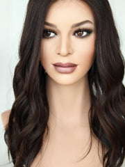 "22"" Dark Brown Lace Top Wig (Bleached Top)  - FINAL SALE"