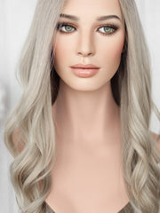 "23"" Darkest Brown Lace Top Wig (Bleached Top)(S)  (FINAL SALE)"