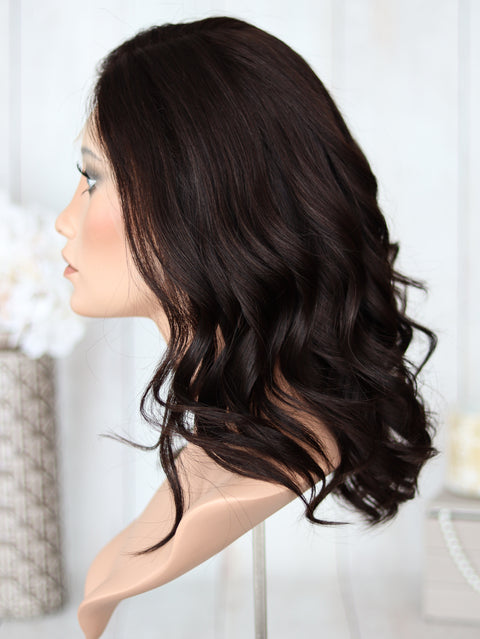 "18"" Dark Brown Lace Top Wig"