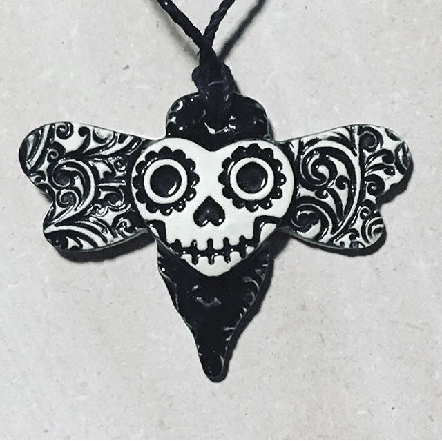 death's head moth ornament