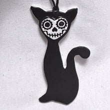 Load image into Gallery viewer, skull kitty ornament- charity fundraiser item ***more in stock soon!