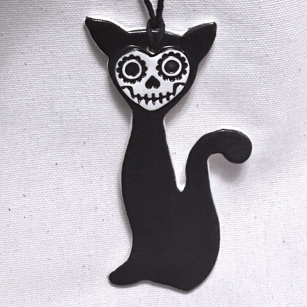 skull kitty ornament- charity fundraiser item ***more in stock soon!