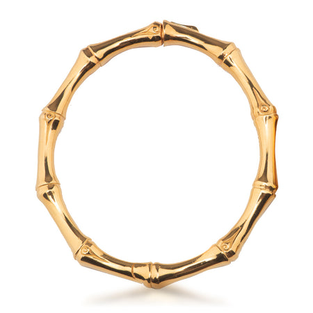 Bali Bamboo Bangle Large Gold