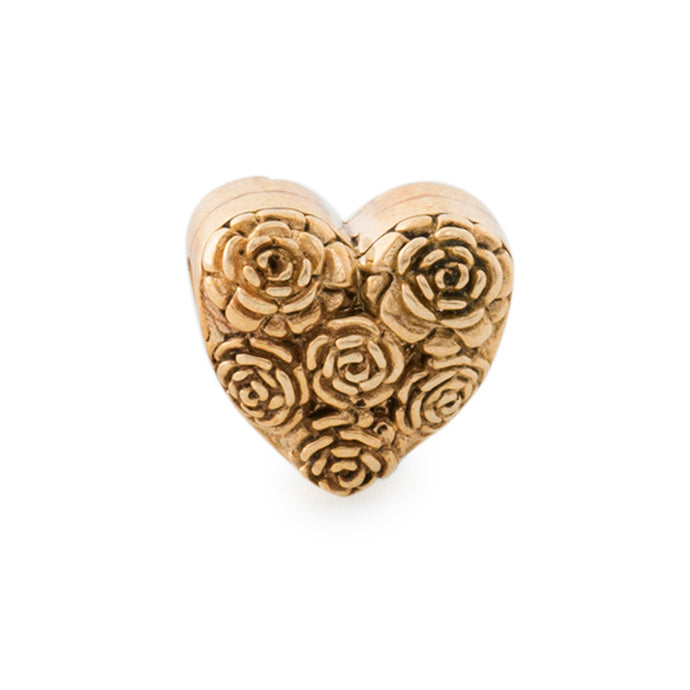 Heart of Roses Bead Brass