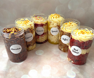Cake-in-a-Jar Box of 4
