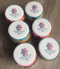 Load image into Gallery viewer, Fully Branded Logo Cupcakes