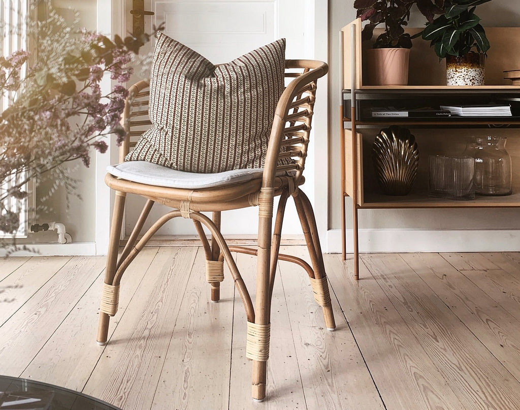 Vibes of nature with the modern Blend rattan chair in the home of @Marieeigen