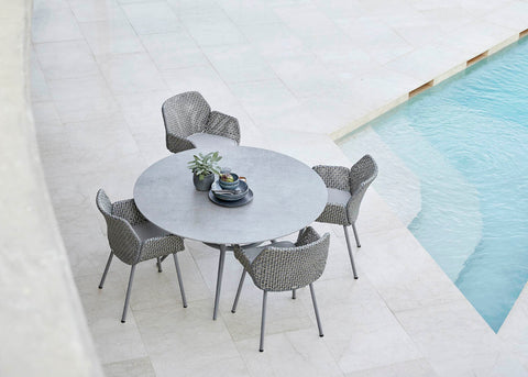 Simple and modern dining area Cane-line outdoor