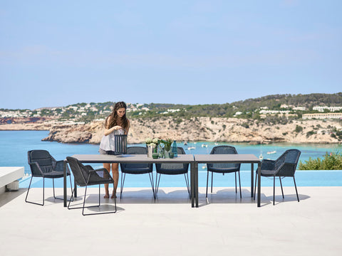 Dining area table and chairs outdoor furniture