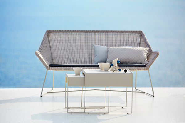 White single lounge set from Cane-line