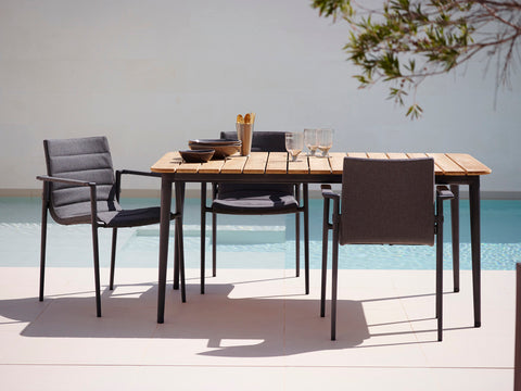 Dining chairs and table outdoor Cane-line
